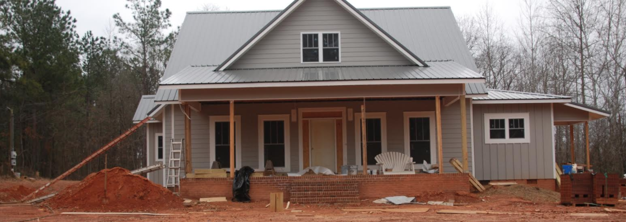 House under construction S and H Construction custom home builder Augusta GA